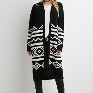 Thick Long-line Cardigan